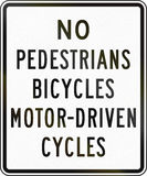 No Pedestrians Bicycles Motor-Driven Cycles Royalty Free Stock Images