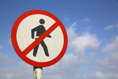 No Pedestrians Royalty Free Stock Photos