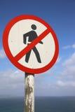 No Pedestrians Stock Photo