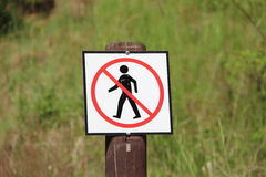 No pedestrians Royalty Free Stock Photo