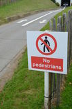 No Pedestrians sign. Royalty Free Stock Image