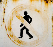 No Pedestrians sign Stock Photo