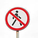No Pedestrians sign Royalty Free Stock Photos