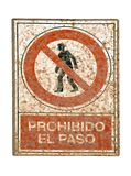 No pedestrians traffic sign Stock Photo