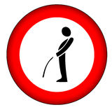 No pee sign (AI format available). Illustration of no pee sign stock illustration