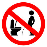 No peeing on the floor vector sign Stock Photo