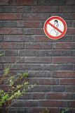 No peeing prohibition sign Royalty Free Stock Photo