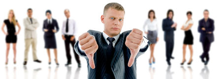 NO! people with Angry CEO stock photo