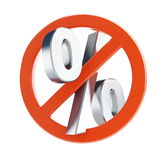 No percentage on a white background Royalty Free Stock Photos