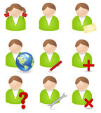 No-person icons Royalty Free Stock Images