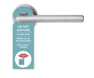 No perturbe en el tirador de puerta Fotografía de archivo libre de regalías