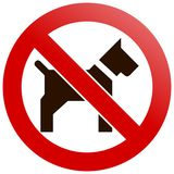 No pets Royalty Free Stock Image