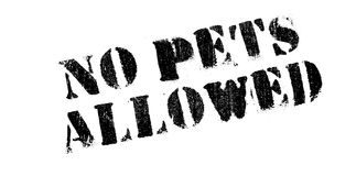 No Pets Allowed rubber stamp Royalty Free Stock Photography