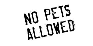 No Pets Allowed rubber stamp Stock Photography