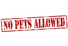 No pets allowed. Rubber stamp with text no pets allowed inside,  illustration Royalty Free Stock Photos