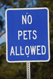 No pets allowed sign Stock Photos