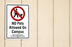 No pets allowed sign royalty free stock photography