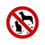No pets allowed sign. No pets allowed vector sign Royalty Free Stock Photography