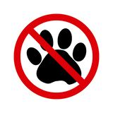 No pets allowed sign. Vector royalty free illustration