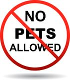 No pets allowed sign on white. Vector eps illustration on isolated white background - No pets allowed sign on white stock illustration