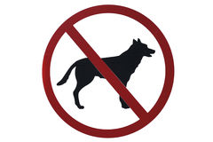 No pets sign. No pets or dog sign on white background Royalty Free Stock Photos