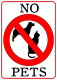 No Pets Sign. Isolated in white Royalty Free Stock Photography