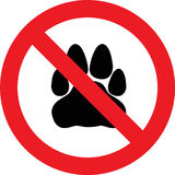 No pets sign Royalty Free Stock Photo