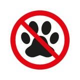 No pets sign on white background. Vector illustration royalty free illustration
