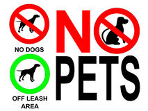 No pets signs Royalty Free Stock Photo