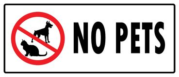 No pets symbol.No Dogs sign and No Cats sign vector illustration