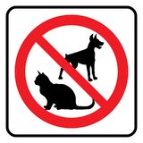 No pets symbol royalty free illustration