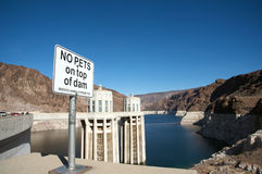 No pets on top of Hoover Dam. Sign Stock Photography
