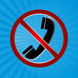 No phone. In blue background eps Royalty Free Stock Image