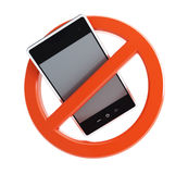 No phone. On a white background Stock Photography