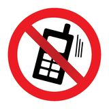 No phone allowed vector illustration