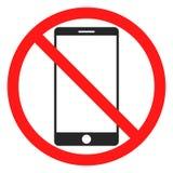 Fun no phone icon. No phone icon vector illustration