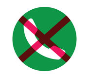 No Phone Icon Concept Royalty Free Stock Photos