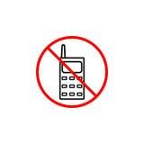 No phone line icon, prohibition sign, forbidden Stock Photos