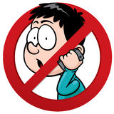 No phone receiver. Vector illustration of No phone receiver sign Royalty Free Stock Photo