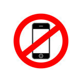 No phone  sign banner Royalty Free Stock Photo