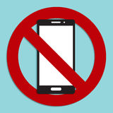 No phone sign icon Royalty Free Stock Images