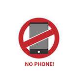 No phone sign Stock Images