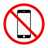 No phone sing Royalty Free Stock Photos
