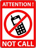 No phone, telephone prohibited symbol. Vector. Stock Photography