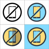 No Phone vector design illustration Royalty Free Stock Photo