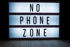No phone zone Stock Photo