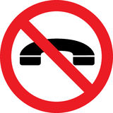 No phones sign Royalty Free Stock Photography