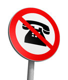 No phoning Royalty Free Stock Photos