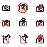 No photo allowed. No photo cameras or photographing allowed Royalty Free Stock Photo