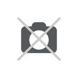 No photo camera icon flat. Pictogram on white background. Vector illustration symbol Stock Image